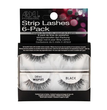 Ardell Strip Lashes 6-pack Zestaw 6 par rzęs Demi Wispies