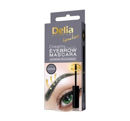 DELIA CREAMY EYEBROW Mascara do brwi Graphite