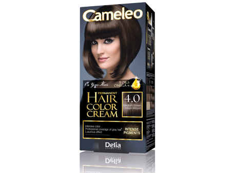 Delia Cosmetics Cameleo HCC Farba permanentna Omega+ nr 4.0  Medium Brown  1op.