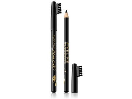 Eveline Eyebrow Pencil Kredka do brwi - czarna  1szt
