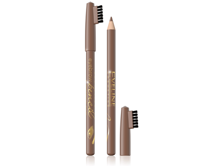 Eveline Eyebrow Pencil Kredka do brwi - jasny brąz  1szt