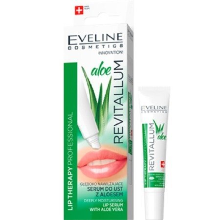 Eveline Lip Therapy Revitallum Aloe Głęboko nawilżające serum do ust z aloesem  8ml