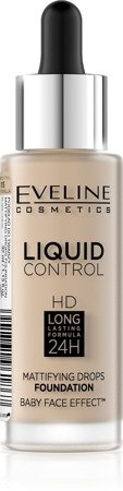 Eveline Liquid Control HD Podkład do twarzy z dropperem nr 015 Light Vanilla  32ml