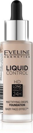 Eveline Liquid Control HD Podkład do twarzy z dropperem nr 020 Rose Beige  32ml