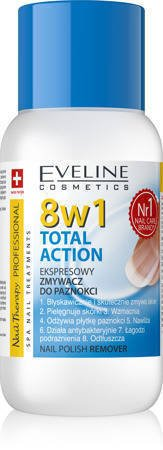 Eveline Nail Therapy Professional Zmywacz do paznokci 8w1 Total Action bezacetonowy  150 ml