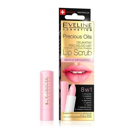 Eveline Precious Oils Peeling do ust 8w1 Lip Scrub  1szt