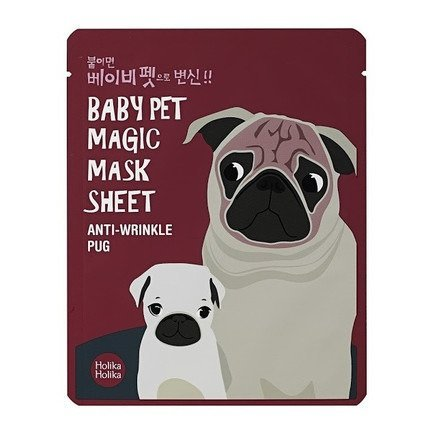 Holika Holika Baby Pet Magic Mask Sheet Maska w płacie Anti-Wrinkle Pug  1szt