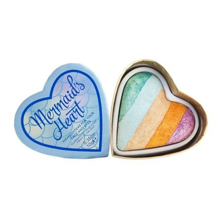 I Heart Makeup Blushing Hearts Rozświetlacz do twarzy Mermaid's Heart  10g