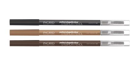 INGRID Kredka do Brwi Perfect Shape & Colour nr 100 Deep Brown