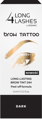 Long 4 Lashes Brow Tattoo Preparat żelowy do brwi 24H  Dark  8ml