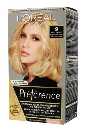 Loreal Farba Recital Preference Y Hollywood 9 Bardzo Jasny Blond