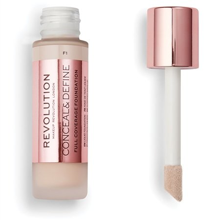 MAKEUP REVOLUTION CONCEAL & DEFINE FULL COVERAGE PODKŁAD F1