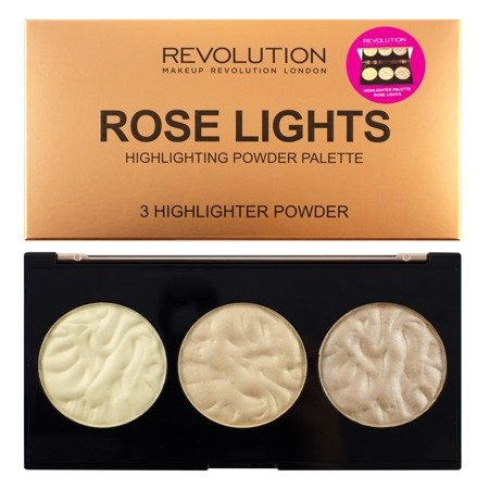 Makeup Revolution Highlighter Palette Rose Lights  Rozświetlacze 15g