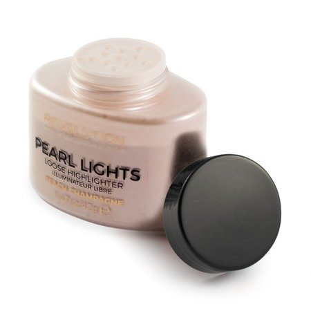 Makeup Revolution Pearl Lights Loose Highlighter Puder sypki rozświetlający Peach Champagne  25g