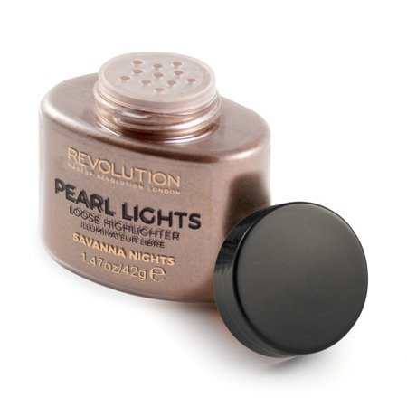Makeup Revolution Pearl Lights Loose Highlighter Puder sypki rozświetlający Savana Nights  25g