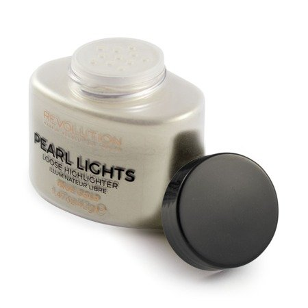 Makeup Revolution Pearl Lights Loose Highlighter Puder sypki rozświetlający True Gold  25g