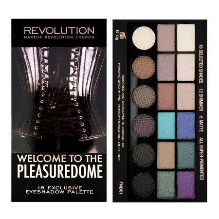 Makeup Revolution Salvation Palette 18 Zestaw cieni do powiek Welcome to The Pleasuredome (18 kolorów) 13g