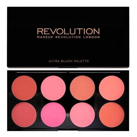 Makeup Revolution Ultra Blush Palette 8 Zestaw róży do policzków All About Cream 13g