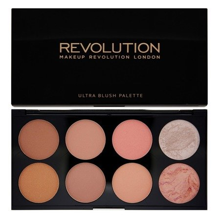Makeup Revolution Ultra Blush Palette 8 Zestaw róży do policzków Hot Spice 13g
