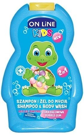On Line Kids Szampon 2w1 Guma Balonowa  250ml