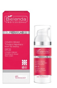 BIELENDA SUPREMELAB POST TREATMENT CARE - COVER CREAM Tonująco-łagodzący krem do twarzy  SPF 25 50ml