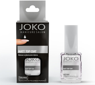 Joko Manicure Salon Odżywka do paznokci Matt Top Coat  10 ml