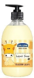 On Line Kids Time Mydło w płynie Guma balonowa 500ml