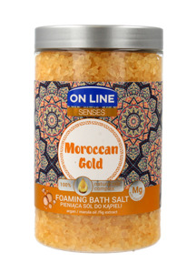 On Line Senses Pieniąca Sól do kąpieli Moroccan Gold  480ml